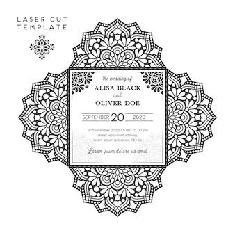 Ornamental invitation in vintage style