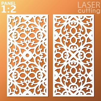 Декоративная металлическая панель lasercut.
