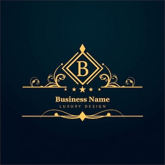 Ornamental letter b logo