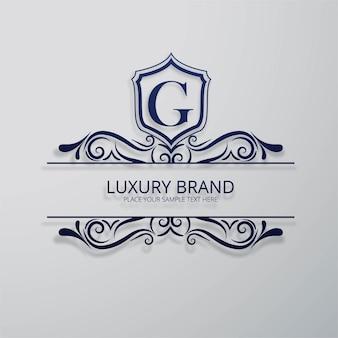 Ornamental letter g logo