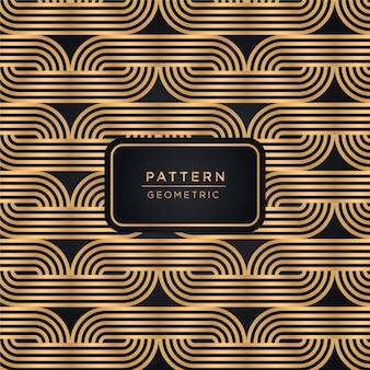 Ornamental line pattern background in gold color
