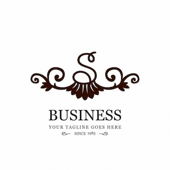 Ornamental logo for business with the letter s