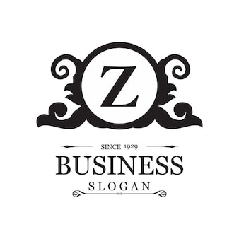 Ornamental logo for business with the letter z