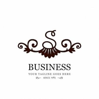 S бизнес декоративные цветочные элемент логотипа
