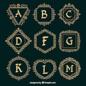 Декоративные коллекции логотипов из прописных букв