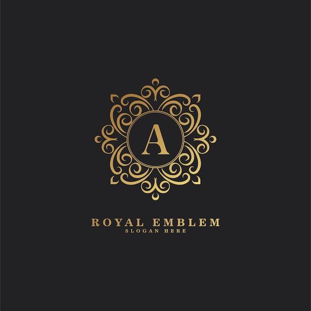 Декоративное роскошное письмо логотип