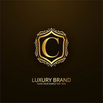 Ornamental luxury letter c logo