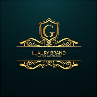 Ornamental luxury letter g logo