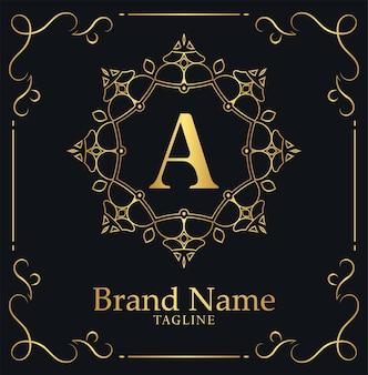 Ornamental luxury letter a logo