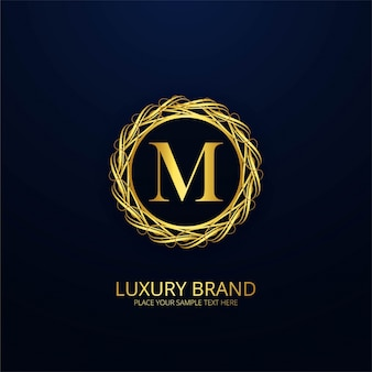 Ornamental luxury letter m logo