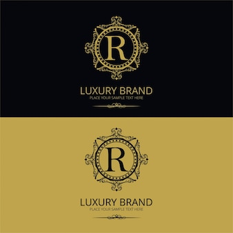 Ornamental luxury letter r logo
