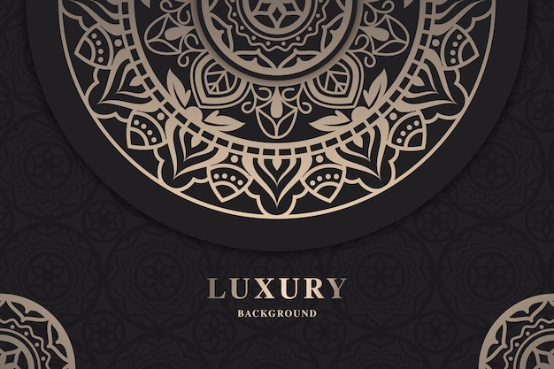 Ornamental luxury mandala wallpaper