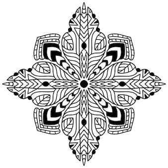 装飾用曼荼羅。塗り絵のページ。