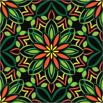 Декоративные мандалы дизайн абстрактный фон. бесшовные модели