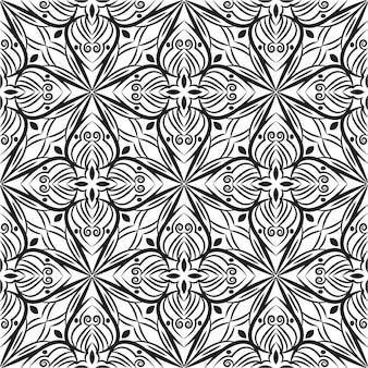 Декоративный дизайн мандалы абстрактный фон. бесшовный образец