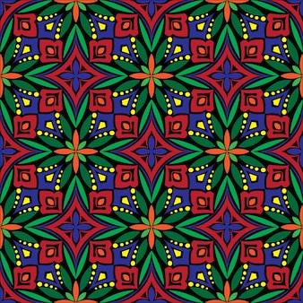 Декоративный дизайн мандалы абстрактный фон. бесшовные модели