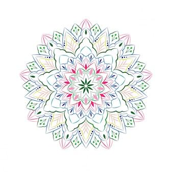 Ornamental mandala design isolated