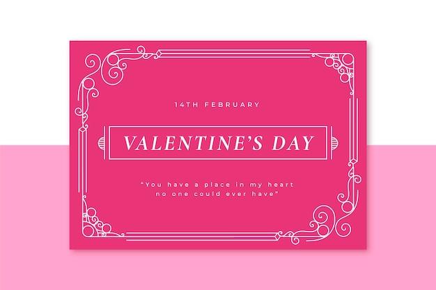 Carta di san valentino monocolore ornamentale