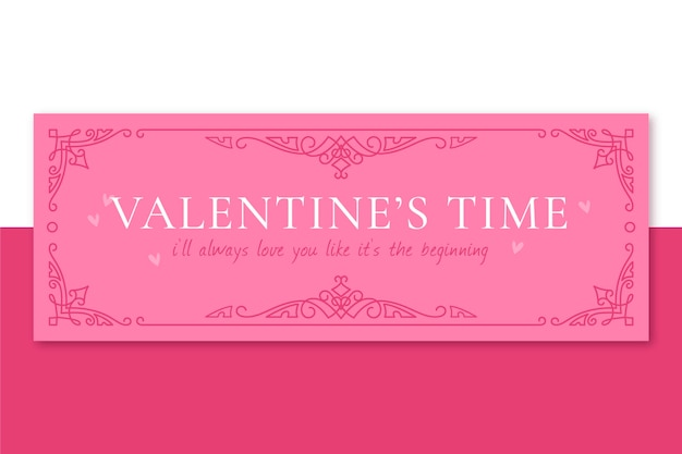 Ornamental monocolor valentine's day facebook cover