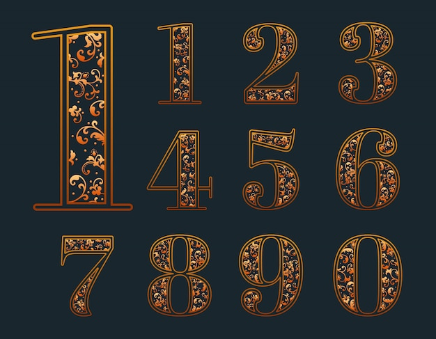 Ornamental numbers set