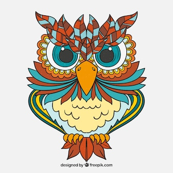 Ornamental owl background