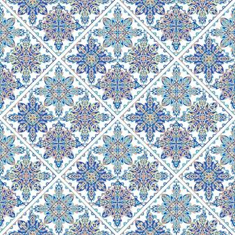 装飾パターン。アラビア語のシームレスなパターン。モロッコの背景。