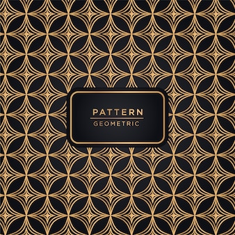 Ornamental pattern background in gold color