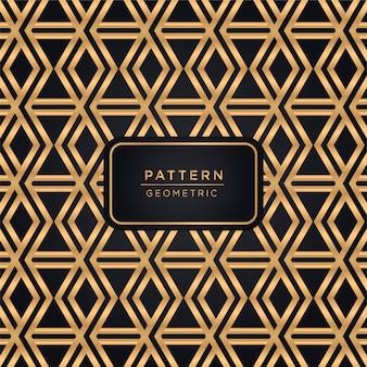 金色の装飾的なパターンの背景