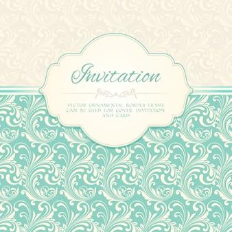 Ornamental pattern invitation card or album cover template vector illustration