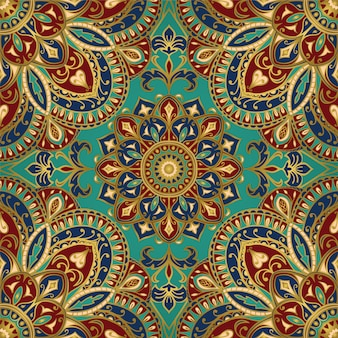 Ornamental pattern with mandala.
