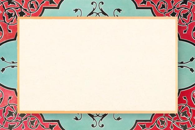 Ornamental pattern with vintage frame