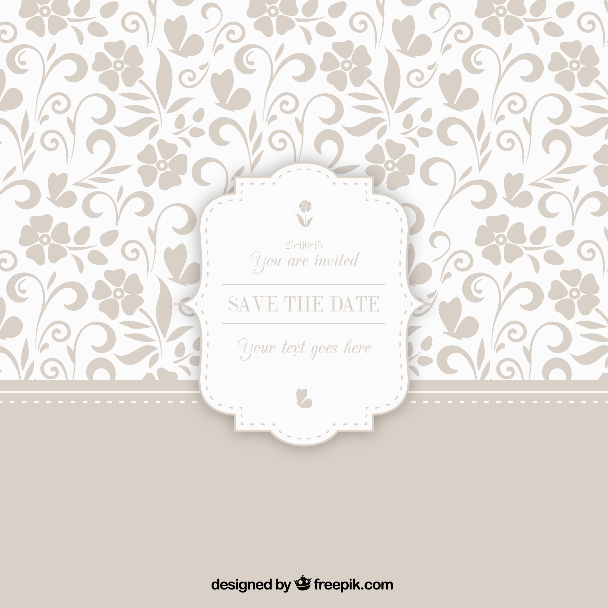 Ornamental pattern with wedding badge