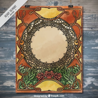 Ornamental poster in art nouveau style