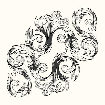 Ornamental realistic hand-drawn border