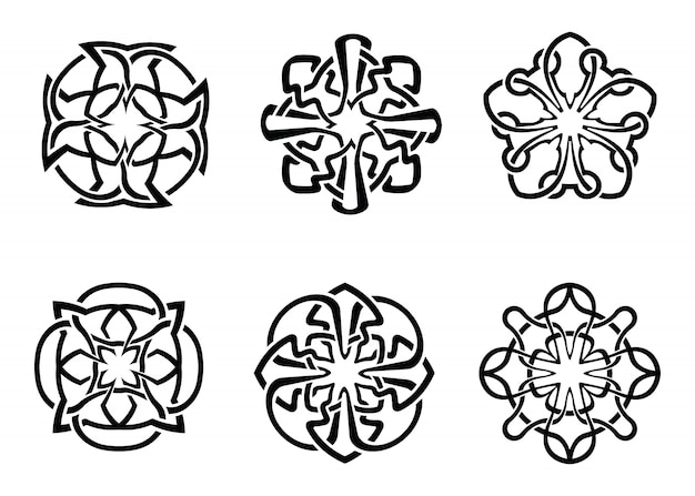 Ornamental round celtic frame set