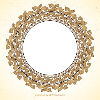 Ornamental round frame