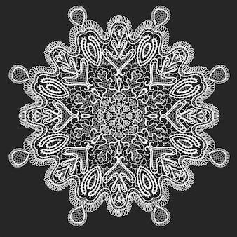 Декоративное круглое кружево, круг