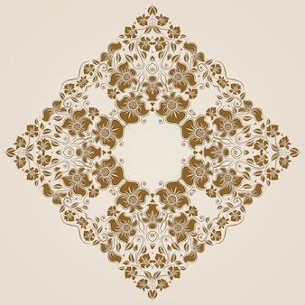 Ornamental round lace pattern, circle background
