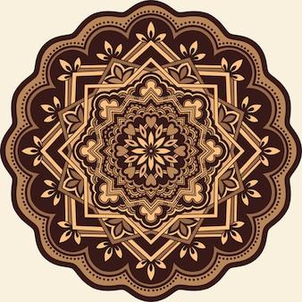ダマスクとアラベスクの要素を持つ装飾的なラウンドレース。