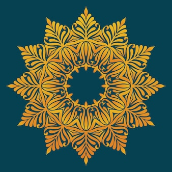 Орнаментальное круглое кружево с элементами дамаска и арабески