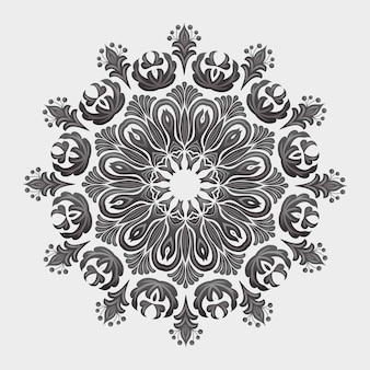 Ornamental round lace with damask and arabesque elements. mehndi style. orient traditional ornament