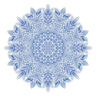 Декоративный круглый узор снежинки