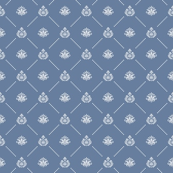 Ornamental royal wedding seamless background. endless pattern, texture  decorative, vector illustration