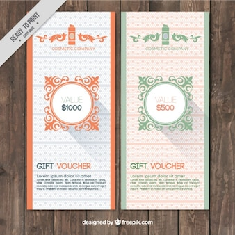 Ornamental sale banners in vintage style