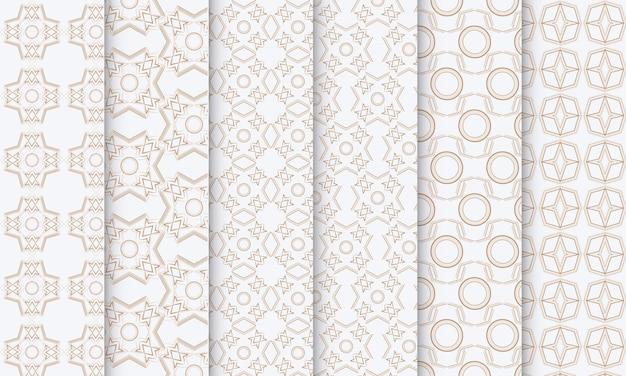 장식용 원활한 패턴 컬렉션