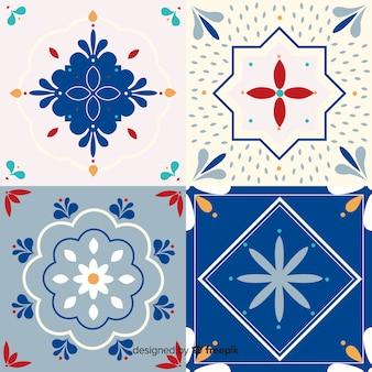 Ornamental set of tiles