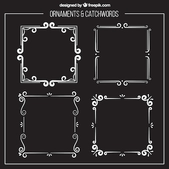Ornamental silver frames