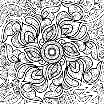 Ornamental stylish mandala  colouring book page for adults and children