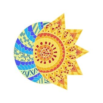 Орнаментальное солнце и луна