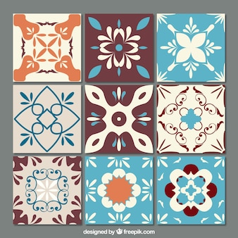 Ornamental tiles set